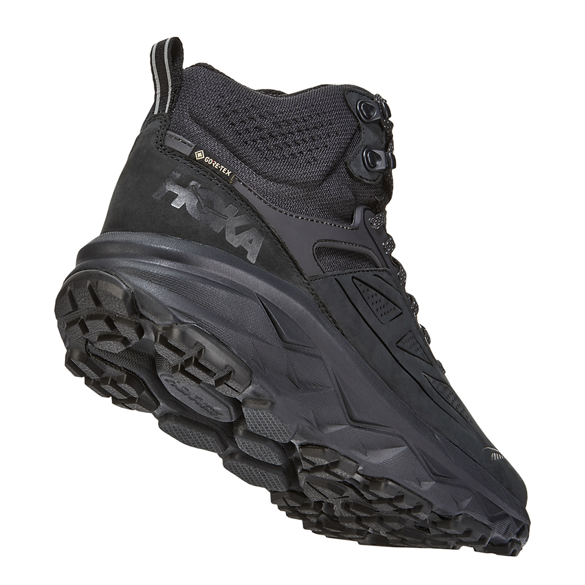Men's Hoka One One Challenger Mid Gore-Tex Trail Running Shoe - Color: Black (Regular Width) - Size: 11, Black, large, image 3