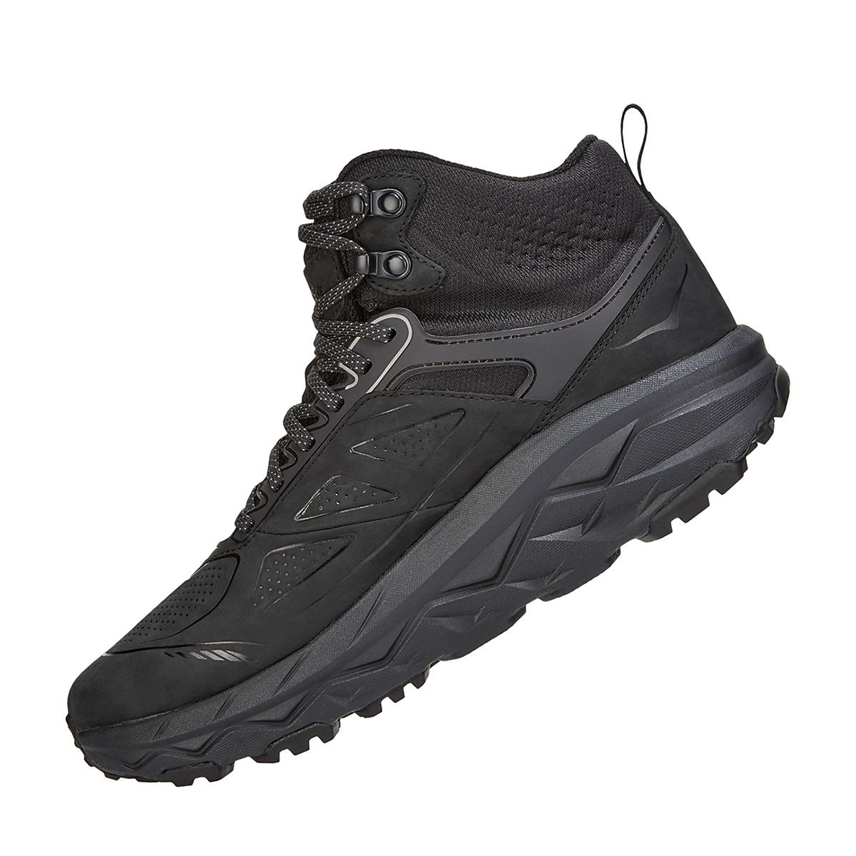 Men's Hoka One One Challenger Mid Gore-Tex Trail Running Shoe - Color: Black (Regular Width) - Size: 11, Black, large, image 4