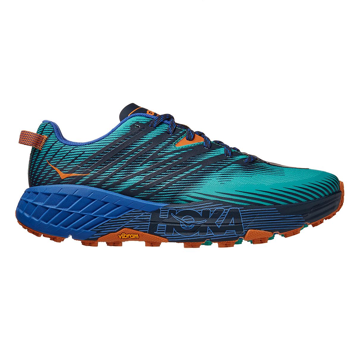 Men's Hoka One One Speedgoat 4 Trail Running Shoe - Color: Atlantis/Dazzling Blue - Size: 7 - Width: Regular, Atlantis/Dazzling Blue, large, image 1