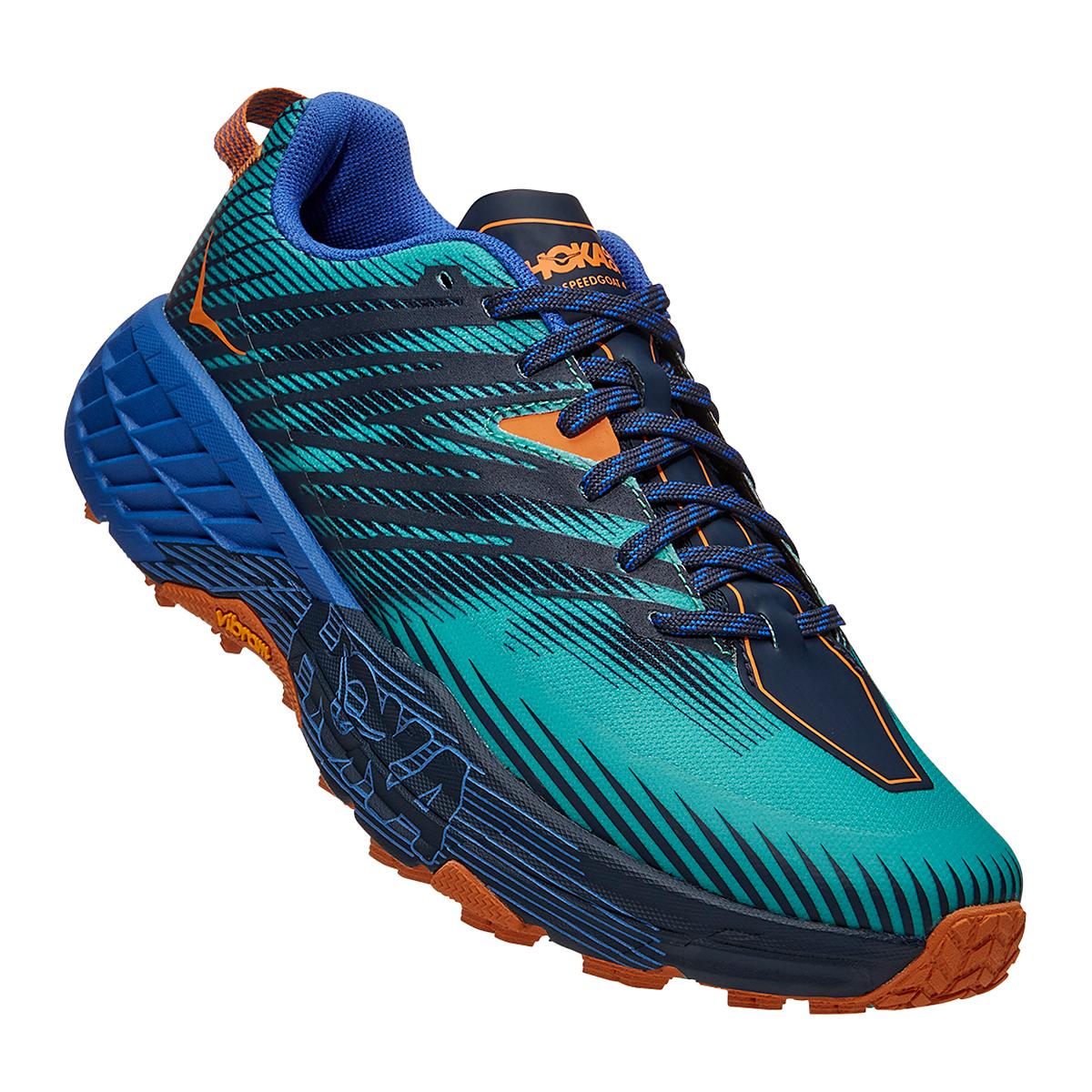 Men's Hoka One One Speedgoat 4 Trail Running Shoe - Color: Atlantis/Dazzling Blue - Size: 7 - Width: Regular, Atlantis/Dazzling Blue, large, image 2