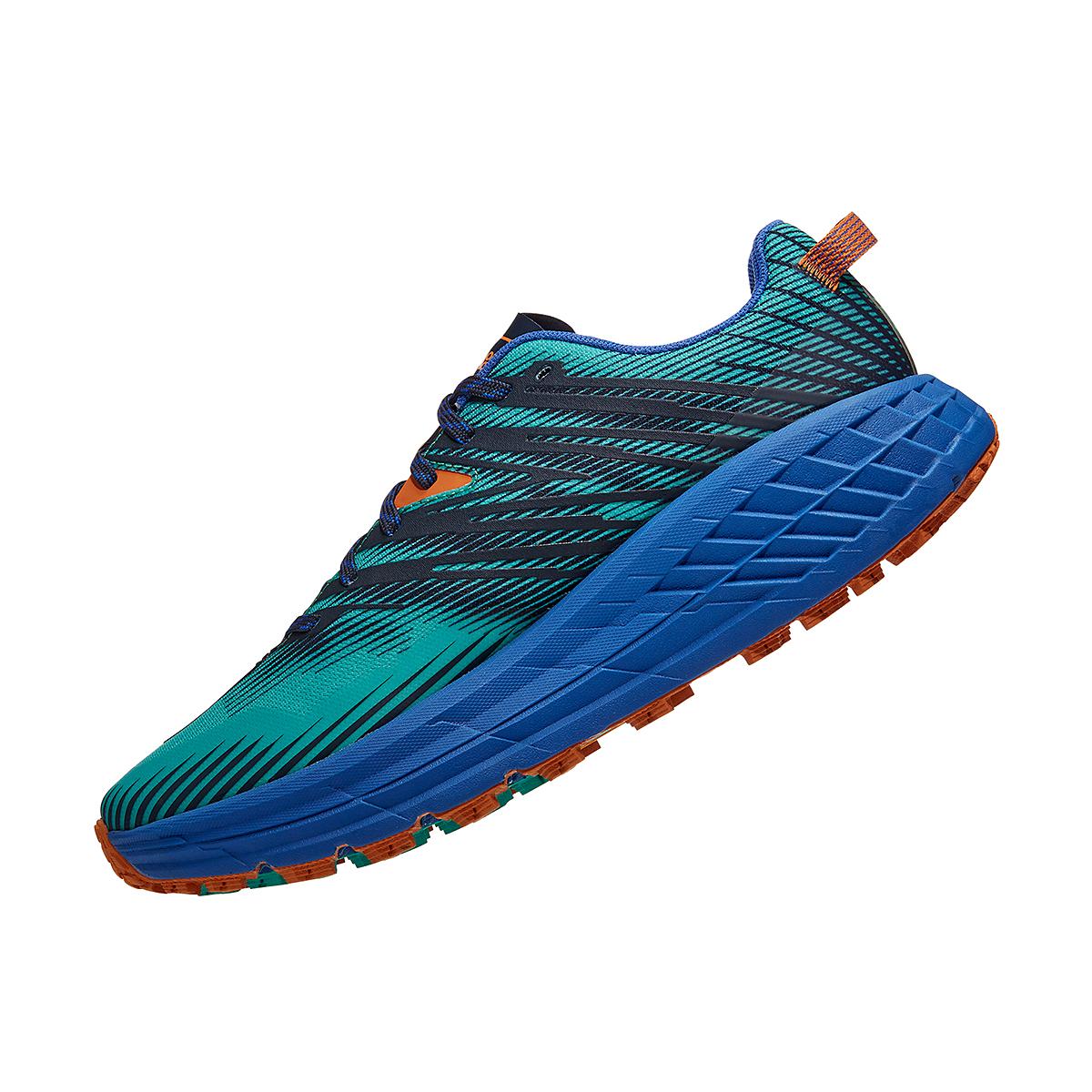 Men's Hoka One One Speedgoat 4 Trail Running Shoe - Color: Atlantis/Dazzling Blue - Size: 7 - Width: Regular, Atlantis/Dazzling Blue, large, image 3