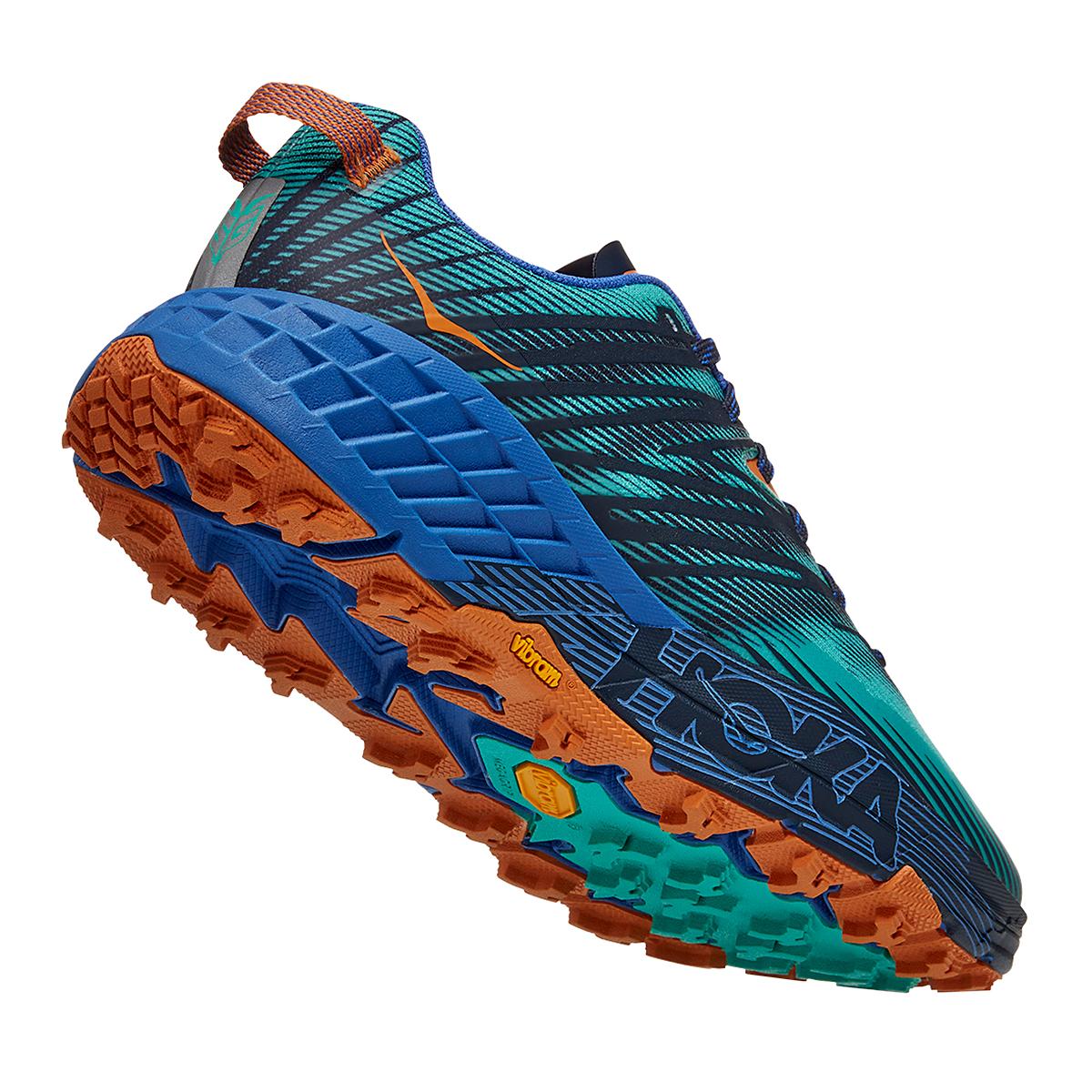 Men's Hoka One One Speedgoat 4 Trail Running Shoe - Color: Atlantis/Dazzling Blue - Size: 7 - Width: Regular, Atlantis/Dazzling Blue, large, image 4