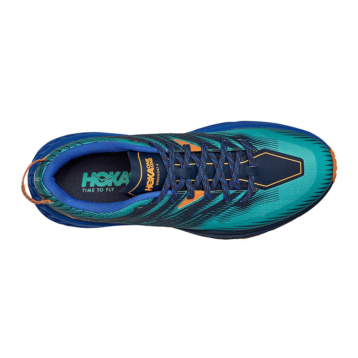 Men's Hoka One One Speedgoat 4 Trail Running Shoe - Color: Atlantis/Dazzling Blue - Size: 7 - Width: Regular, Atlantis/Dazzling Blue, large, image 5