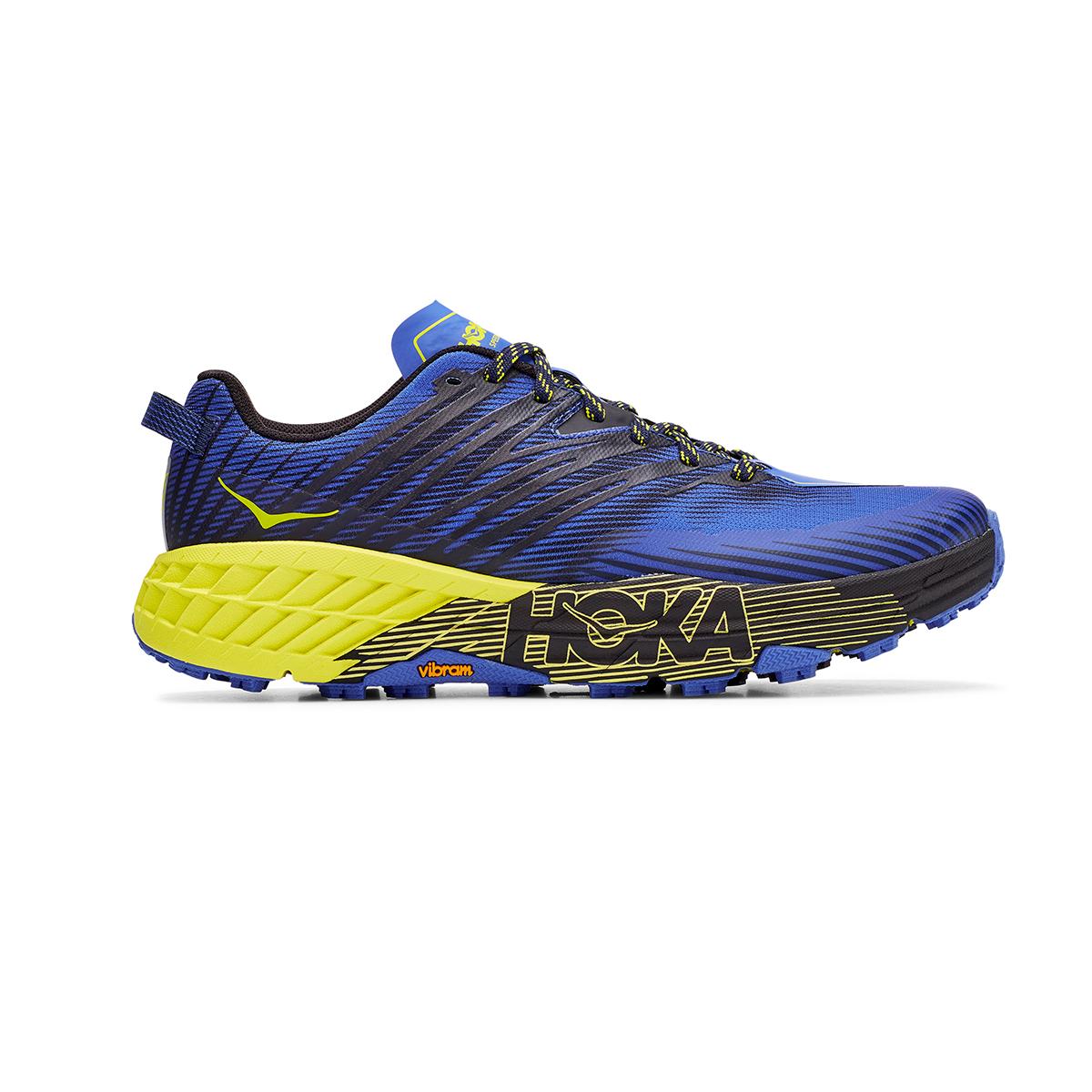 Men's Hoka One One Speedgoat 4 Trail Running Shoe - Color: Black Iris/Evening Primrose - Size: 7 - Width: Regular, Black Iris/Evening Primrose, large, image 1