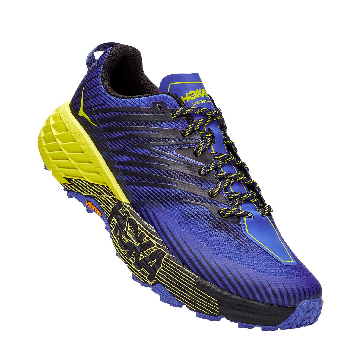 Men's Hoka One One Speedgoat 4 Trail Running Shoe - Color: Black Iris/Evening Primrose - Size: 7 - Width: Regular, Black Iris/Evening Primrose, large, image 3