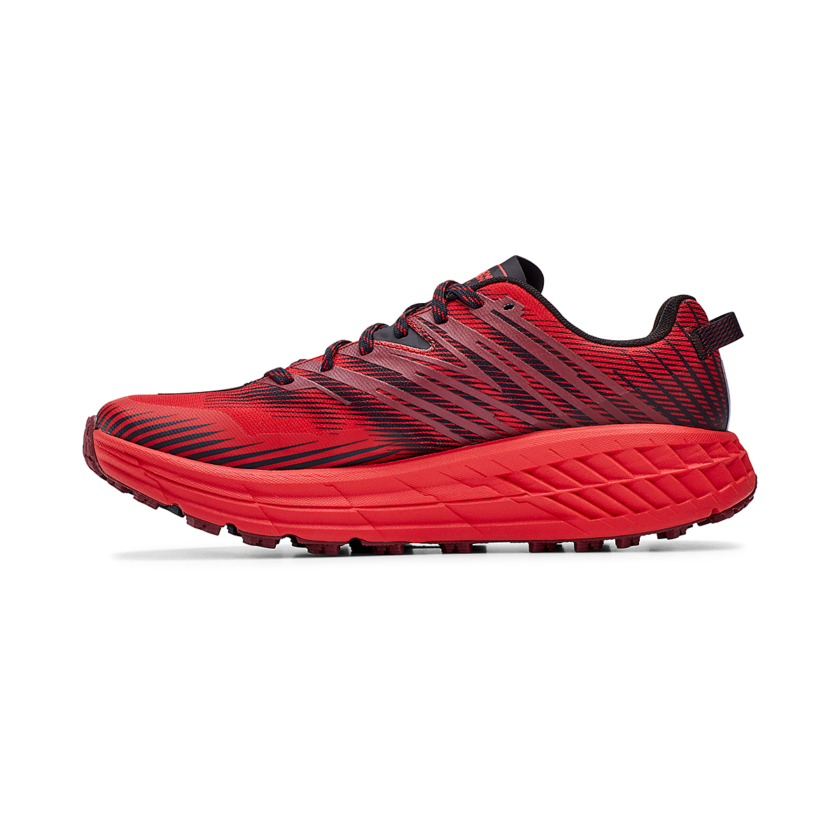 Men's Hoka One One Speedgoat 4 Trail Running Shoe - Color: Cordovan/High Risk Red - Size: 7 - Width: Regular, Cordovan/High Risk Red, large, image 2