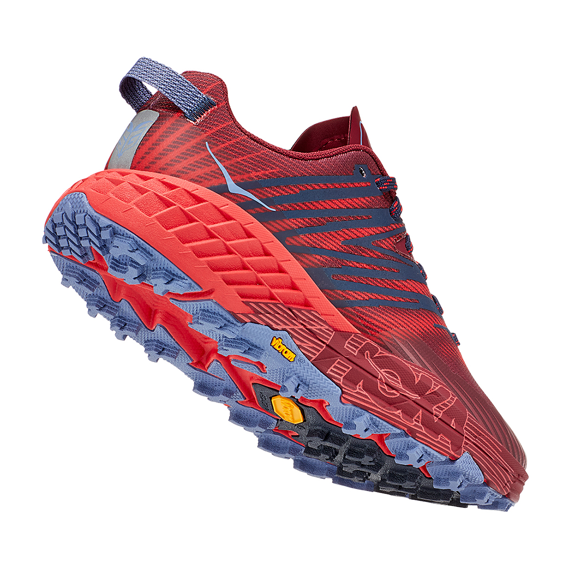 Women's Hoka One One Speedgoat 4 Trail Running Shoe - Color: Cordovan/High Risk Red - Size: 5 - Width: Regular, Cordovan/High Risk Red, large, image 5