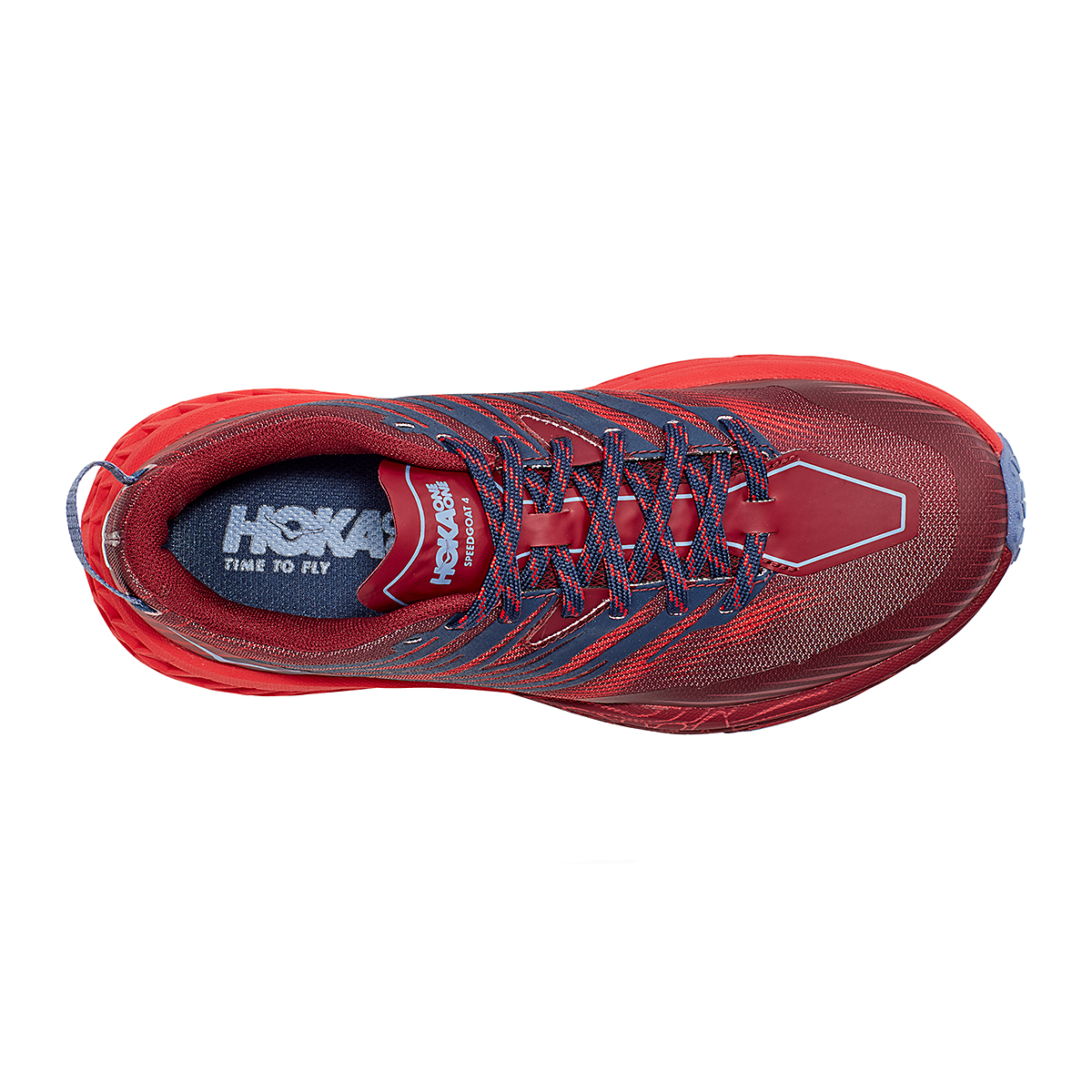 Women's Hoka One One Speedgoat 4 Trail Running Shoe - Color: Cordovan/High Risk Red - Size: 5 - Width: Regular, Cordovan/High Risk Red, large, image 7
