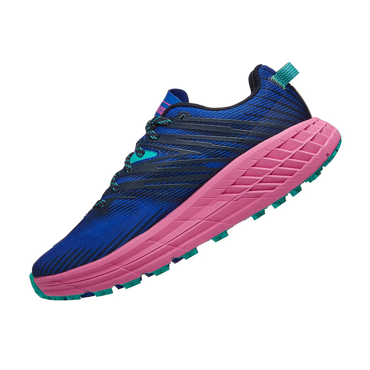 Women's Hoka One One Speedgoat 4 Trail Running Shoe - Color: Dazzling Blue/Phlox Pink - Size: 6 - Width: Regular, Dazzling Blue/Phlox Pink, large, image 3
