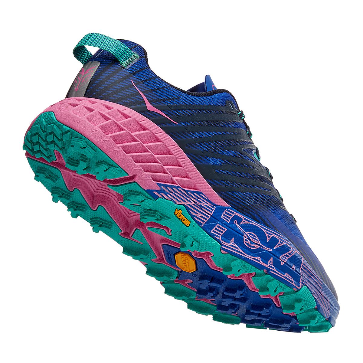 Women's Hoka One One Speedgoat 4 Trail Running Shoe - Color: Dazzling Blue/Phlox Pink - Size: 6 - Width: Regular, Dazzling Blue/Phlox Pink, large, image 4