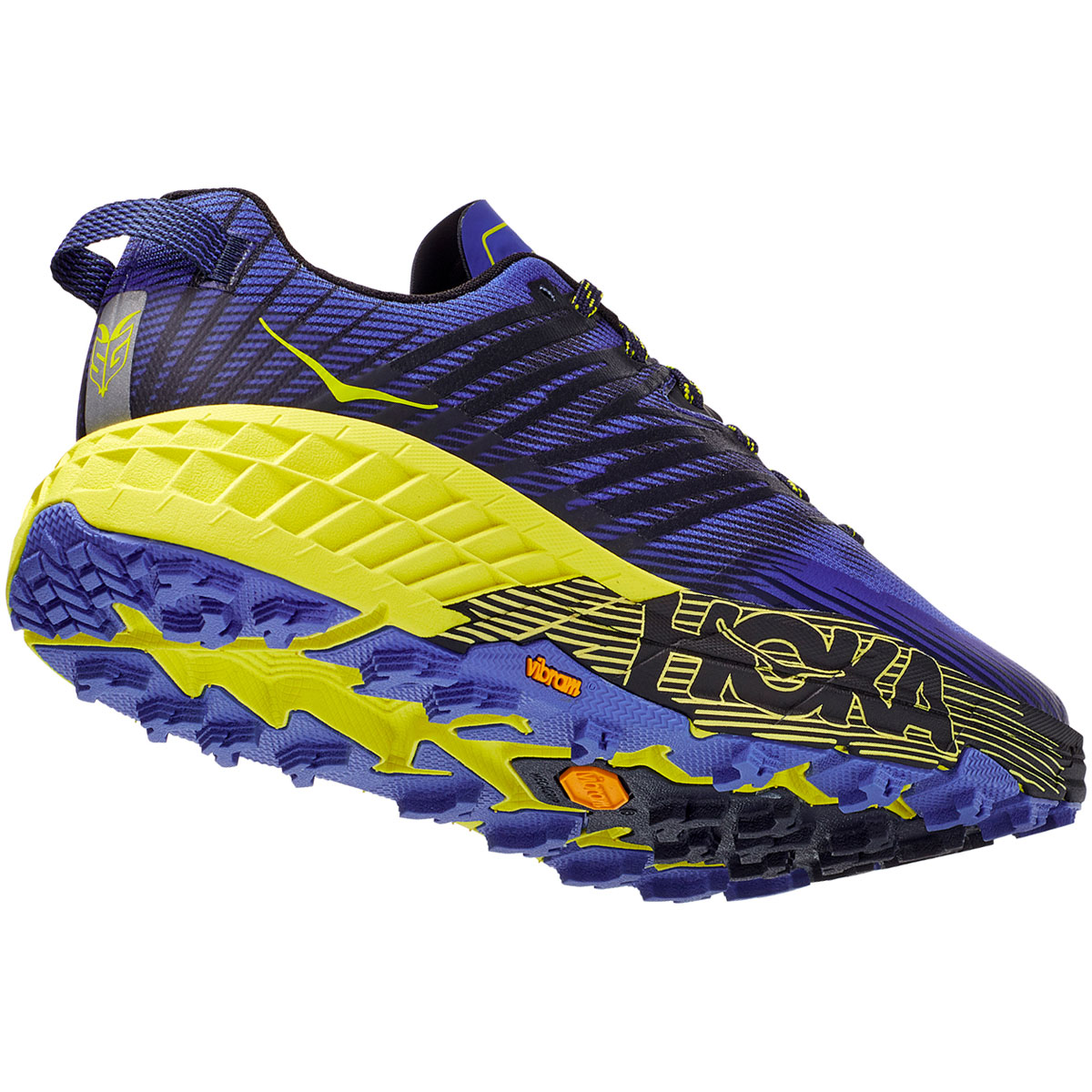 Men's Hoka One One Speedgoat 4 Trail Running Shoe - Color: Black Iris/Evening Primrose - Size: 7 - Width: Regular, Black Iris/Evening Primrose, large, image 2