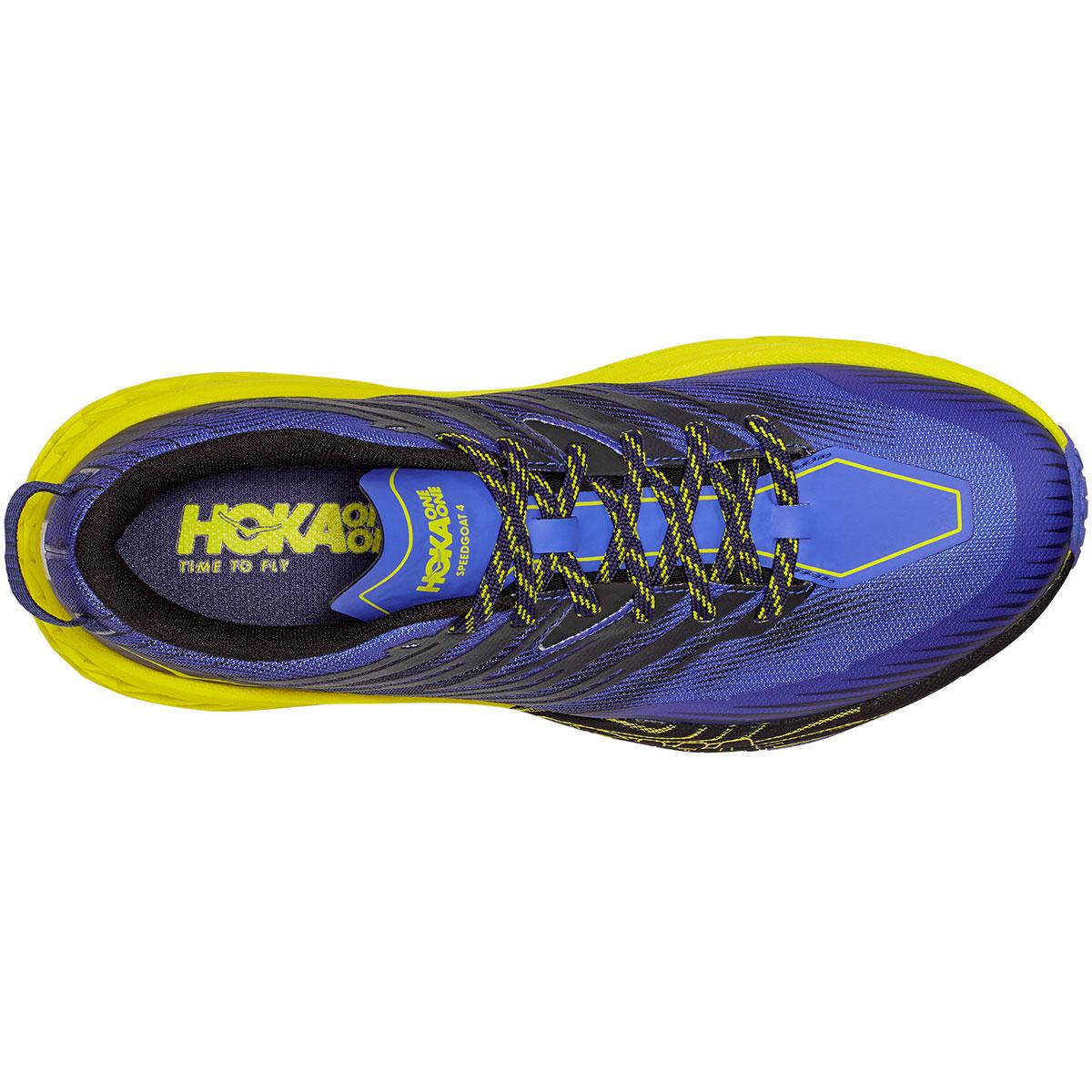 Men's Hoka One One Speedgoat 4 Trail Running Shoe - Color: Black Iris/Evening Primrose - Size: 7 - Width: Regular, Black Iris/Evening Primrose, large, image 4