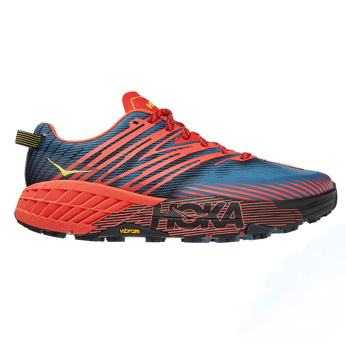 Men's Hoka One One Speedgoat 4 Trail Running Shoe - Color: Fiesta/Provincial Blue - Size: 7 - Width: Regular, Fiesta/Provincial Blue, large, image 1