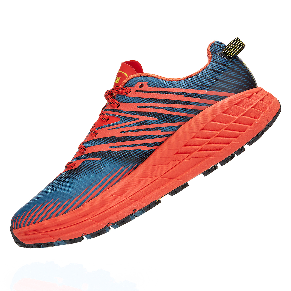 Men's Hoka One One Speedgoat 4 Trail Running Shoe - Color: Fiesta/Provincial Blue - Size: 7 - Width: Regular, Fiesta/Provincial Blue, large, image 2