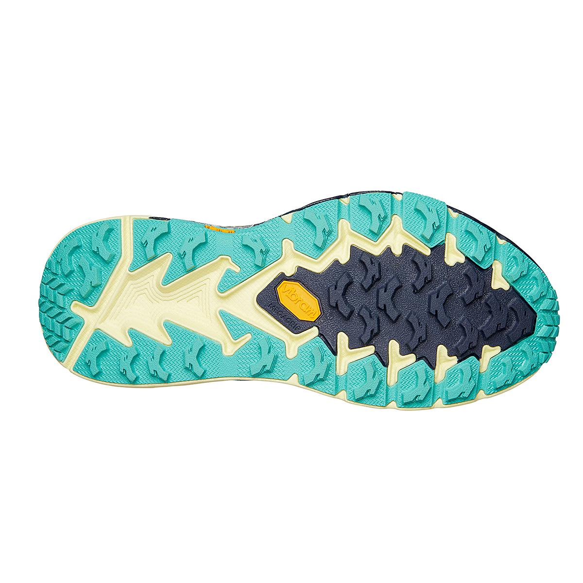 Women's Hoka One One Speedgoat 4 Running Shoe - Color: Provincial Blue/Luminary Green - Size: 5 - Width: Regular, Provincial Blue/Luminary Green, large, image 4