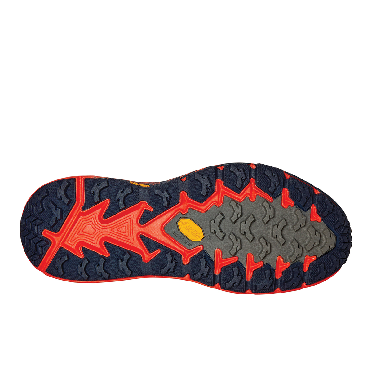 Men's Hoka One One Speedgoat Mid Gore-Tex Trail Hiking Shoe - Color: Mandarin Red / Gold Fusion - Size: 7 - Width: Regular, Mandarin Red / Gold Fusion, large, image 4
