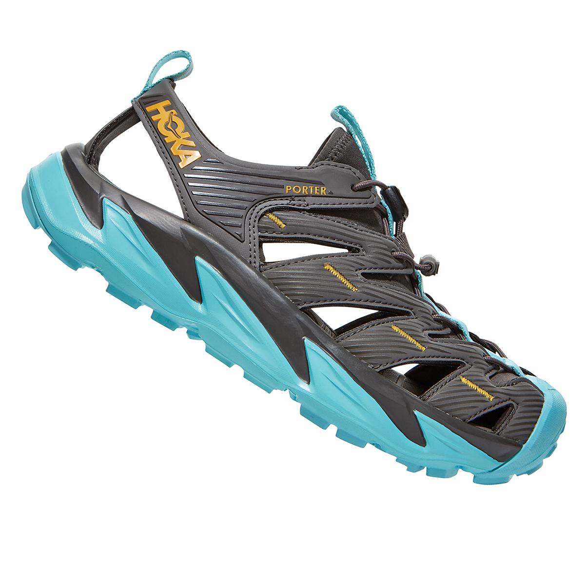 Women's Hoka One One Hopara Hiking Shoe - Color: Dark Gull Grey/Antigua Sand - Size: 5 - Width: Regular, Dark Gull Grey/Antigua Sand, large, image 1