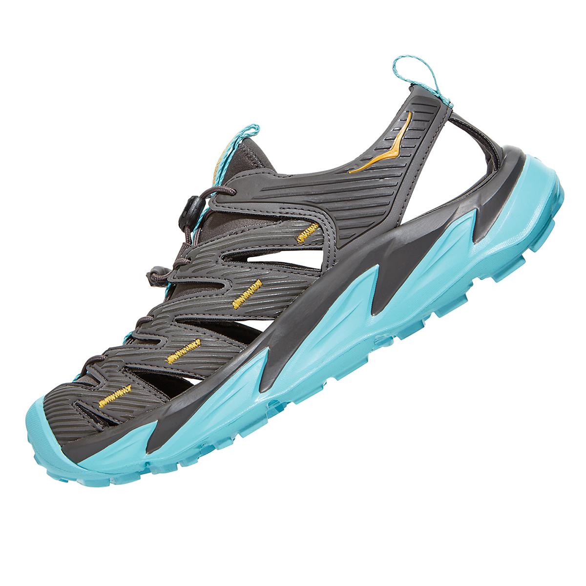 Women's Hoka One One Hopara Hiking Shoe - Color: Dark Gull Grey/Antigua Sand - Size: 5 - Width: Regular, Dark Gull Grey/Antigua Sand, large, image 4