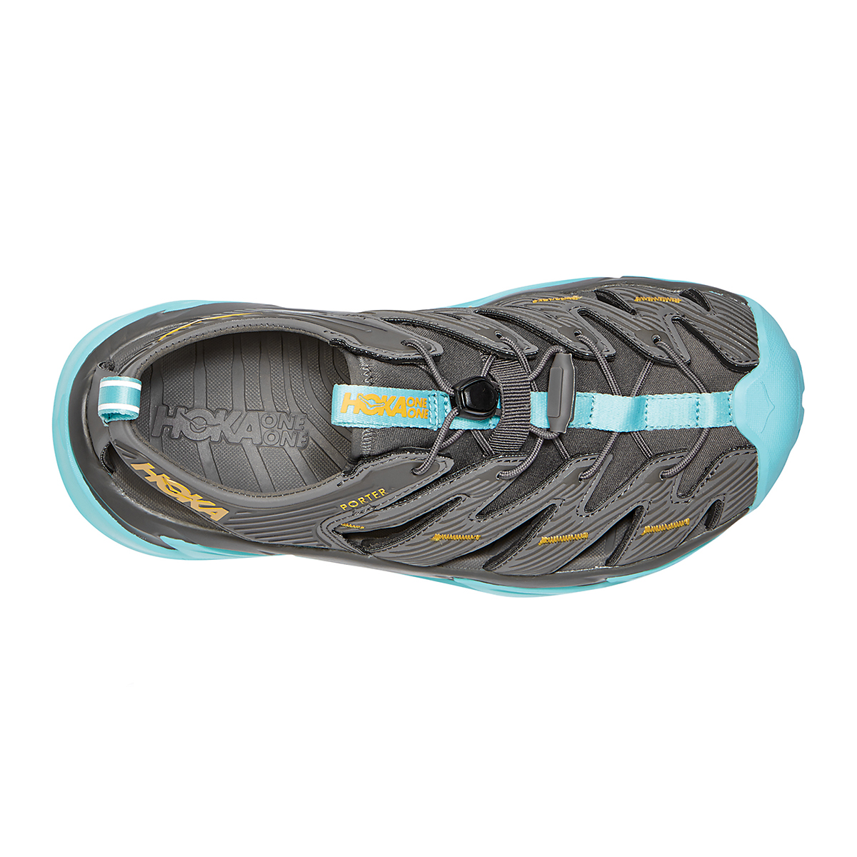Women's Hoka One One Hopara Hiking Shoe - Color: Dark Gull Grey/Antigua Sand - Size: 5 - Width: Regular, Dark Gull Grey/Antigua Sand, large, image 5