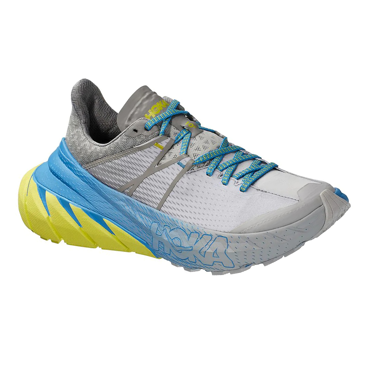 Men's Hoka One One Tennine Running Shoe - Color: Drizzle/Lunar Rock - Size: 8 - Width: Regular, Drizzle/Lunar Rock, large, image 1