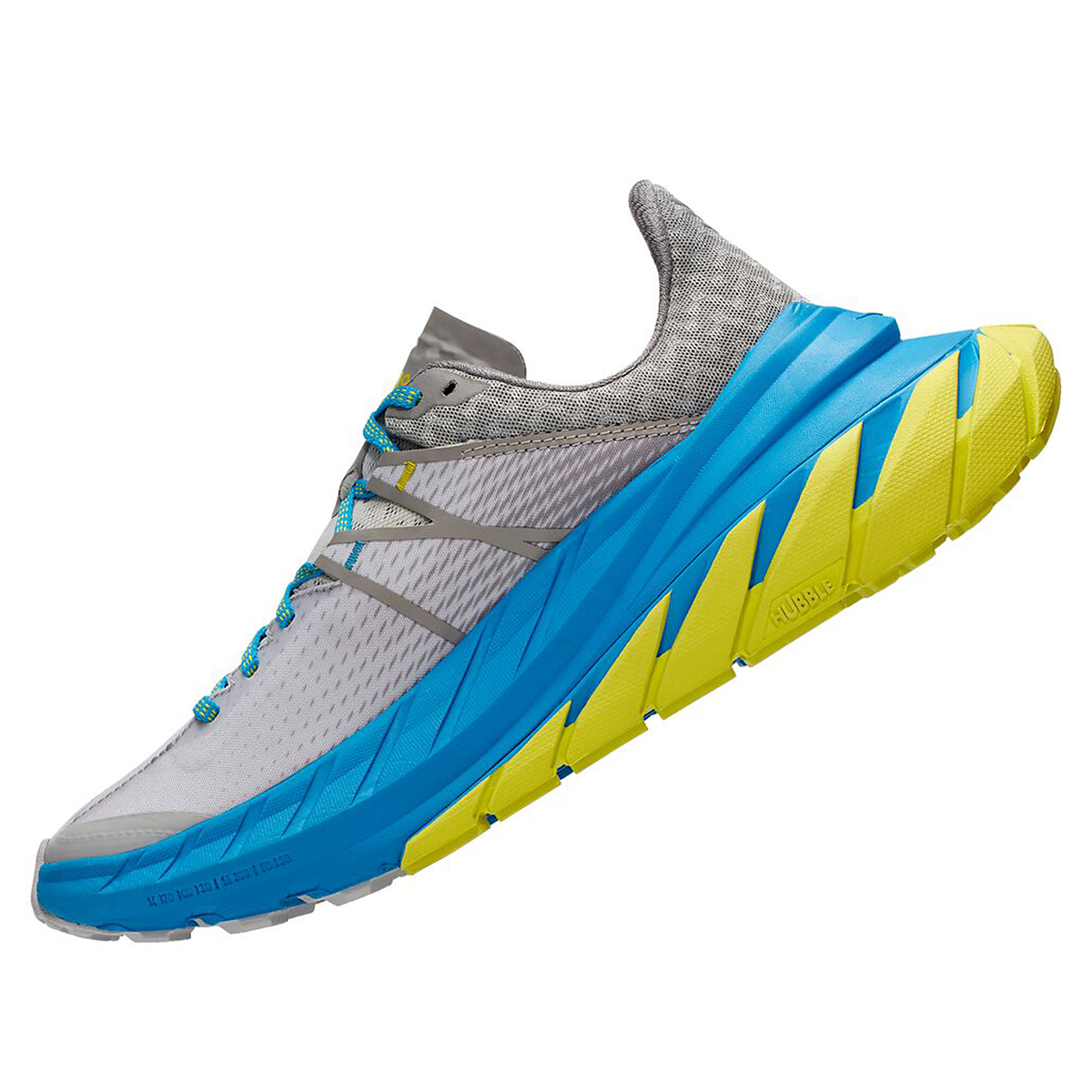 Men's Hoka One One Tennine Running Shoe - Color: Drizzle/Lunar Rock - Size: 8 - Width: Regular, Drizzle/Lunar Rock, large, image 2