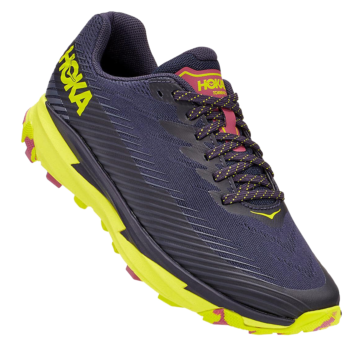 Women's Hoka One One Torrent 2 Trail Running Shoe - Color: Deep Well/Eve - Size: 5 - Width: Regular, Deep Well/Eve, large, image 2