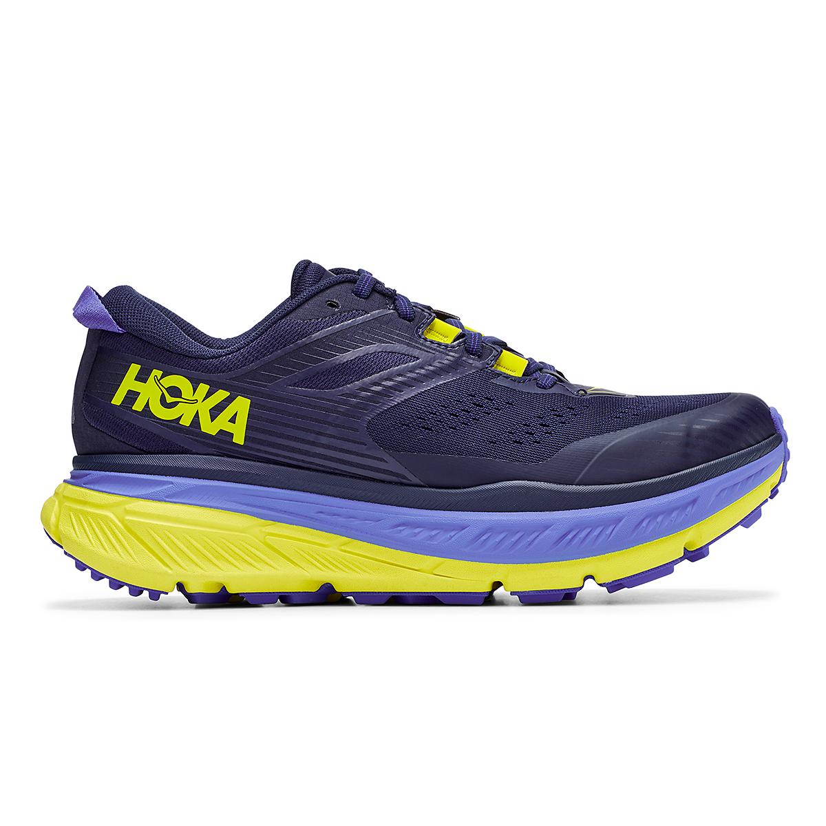 Men's Hoka One One Stinson Atr 6 Trail Running Shoe - Color: Black Iris/Evening Primrose - Size: 7 - Width: Regular, Black Iris/Evening Primrose, large, image 1