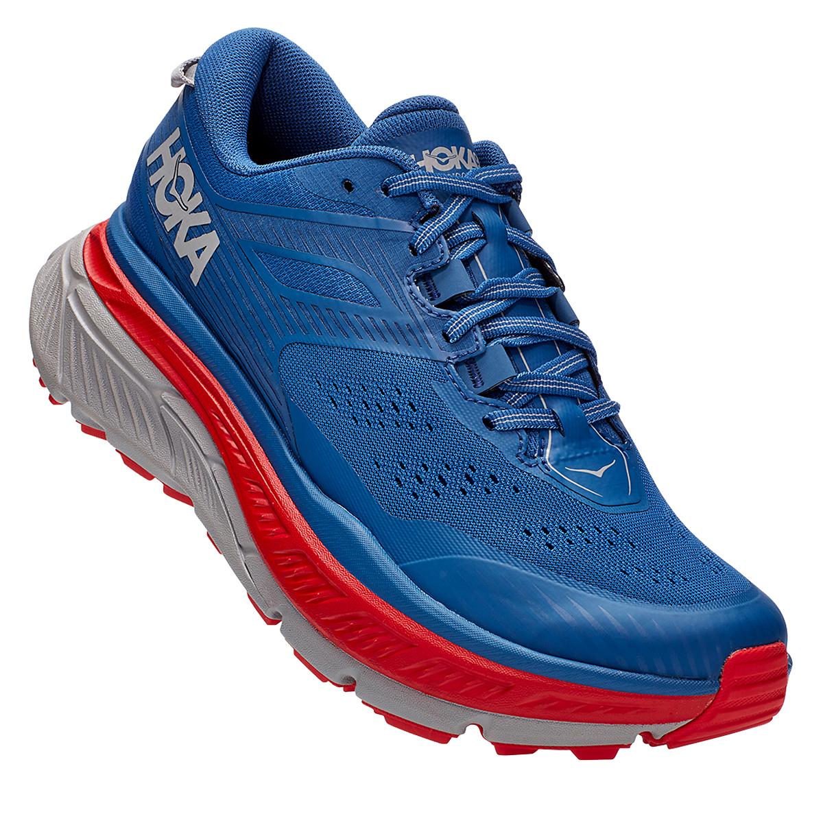 Men's Hoka One One Stinson Atr 6 Trail Running Shoe - Color: Dark Blue/High Risk Red - Size: 7 - Width: Regular, Dark Blue/High Risk Red, large, image 4
