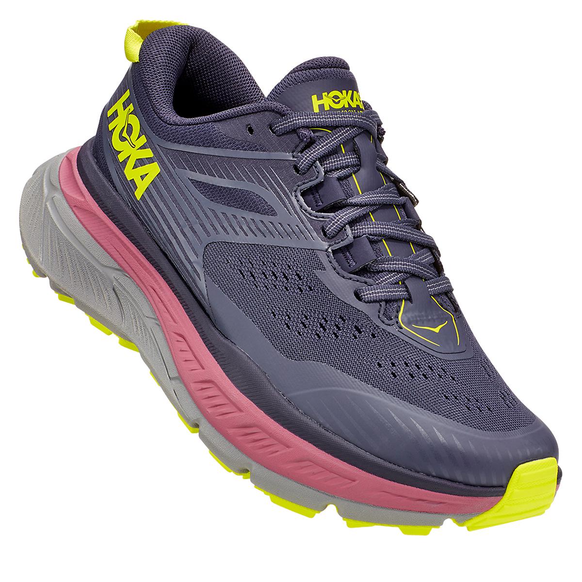 Women's Hoka One One Stinson Atr 6 Trail Running Shoe - Color: Deep Well/Evening Primrose - Size: 5 - Width: Regular, Deep Well/Evening Primrose, large, image 4