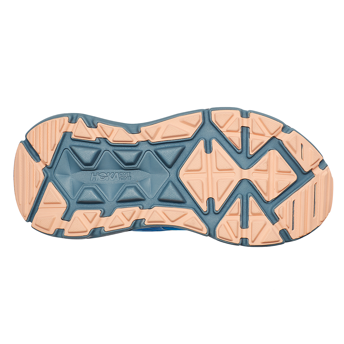 Women's Hoka One One Stinson Atr 6 Trail Running Shoe - Color: Indigo Bunting/Bleached Apricot - Size: 5 - Width: Regular, Indigo Bunting/Bleached Apricot, large, image 3