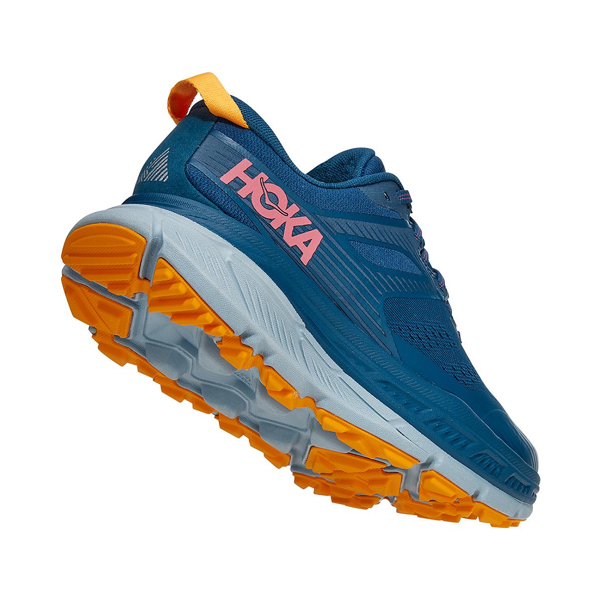 Women's Hoka One One Stinson ATR 6 Trail Running Shoe - Color: Moroccan Blue/Saffron - Size: 5 - Width: Regular, Moroccan Blue/Saffron, large, image 3