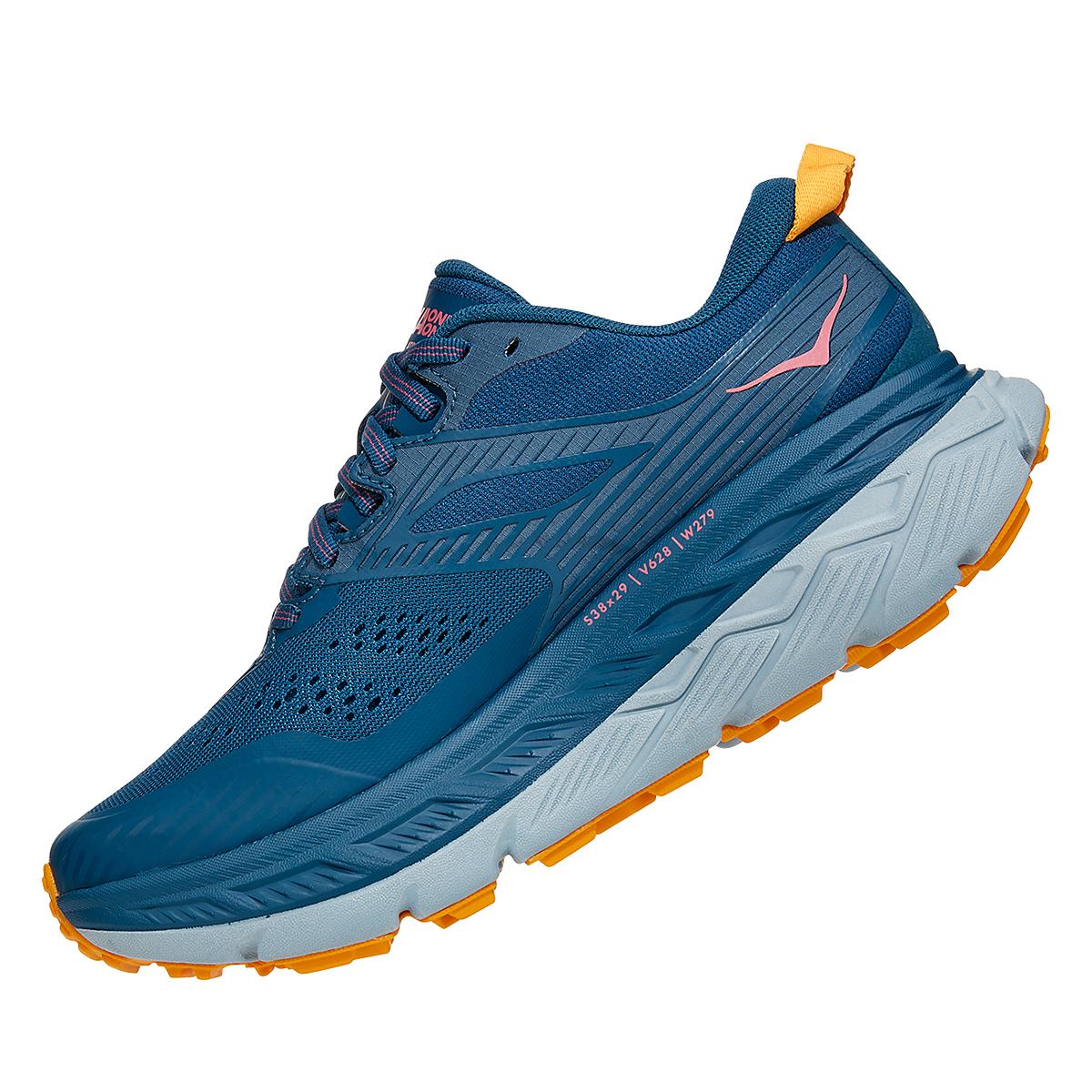 Women's Hoka One One Stinson ATR 6 Trail Running Shoe - Color: Moroccan Blue/Saffron - Size: 5 - Width: Regular, Moroccan Blue/Saffron, large, image 4