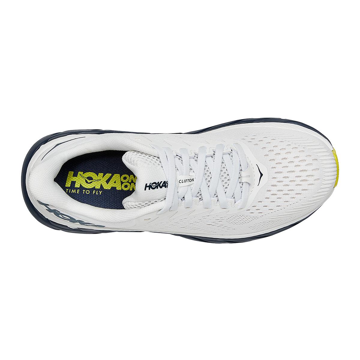 Men's Hoka One One Clifton 7 Running Shoe - Color: Blanc De Blanc - Size: 7 - Width: Regular, Blanc De Blanc, large, image 3