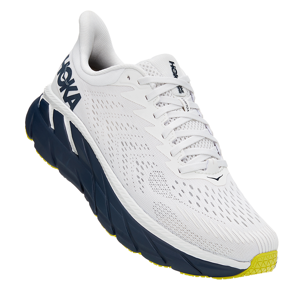 Men's Hoka One One Clifton 7 Running Shoe - Color: Blanc De Blanc - Size: 7 - Width: Regular, Blanc De Blanc, large, image 5