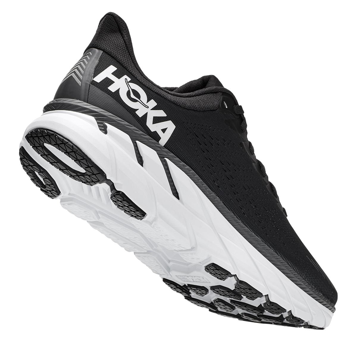 Men's Hoka One One Clifton 7 Running Shoe - Color: Black/White - Size: 7 - Width: Regular, Black/White, large, image 5