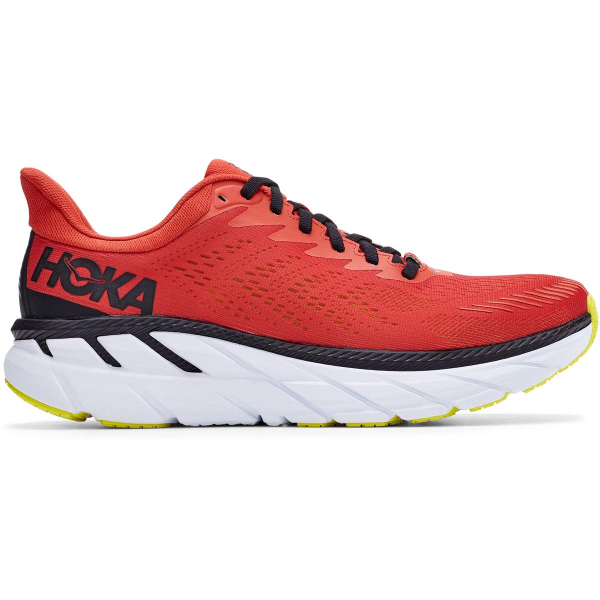 Men's Hoka One One Clifton 7 Running Shoe - Color: Chili/Black - Size: 9 - Width: Regular, Chili/Black, large, image 1