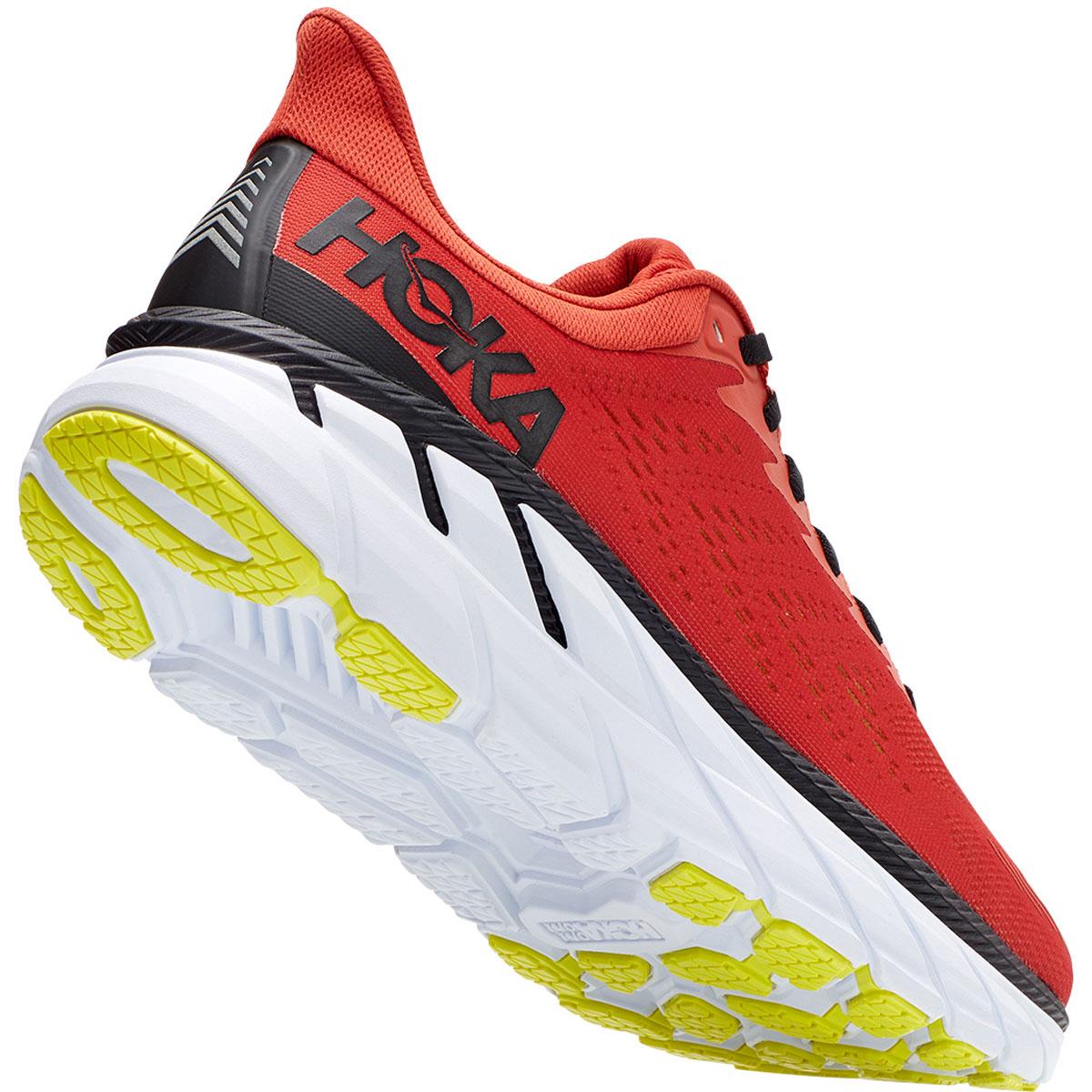Men's Hoka One One Clifton 7 Running Shoe - Color: Chili/Black - Size: 9 - Width: Regular, Chili/Black, large, image 5