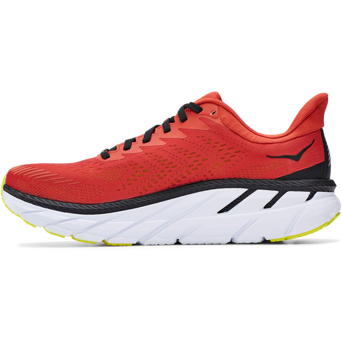 Men's Hoka One One Clifton 7 Running Shoe - Color: Chili/Black - Size: 9 - Width: Regular, Chili/Black, large, image 6