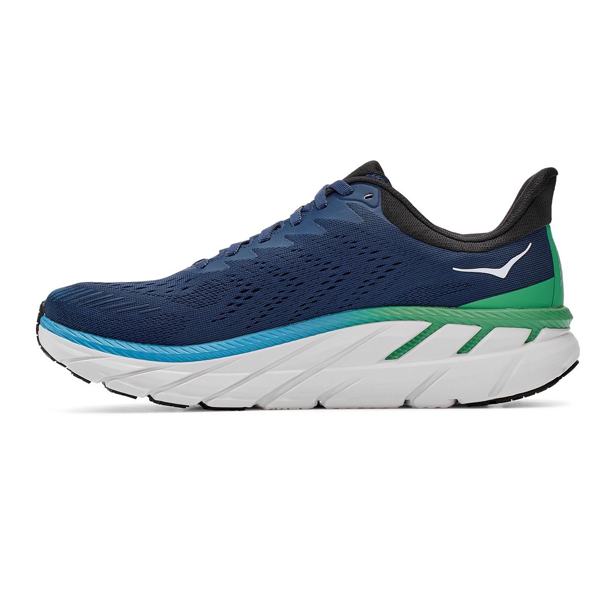 Men's Hoka One One Clifton 7 Running Shoe - Color: Moonlit Ocean/Anthracite - Size: 7 - Width: Regular, Moonlit Ocean/Anthracite, large, image 6