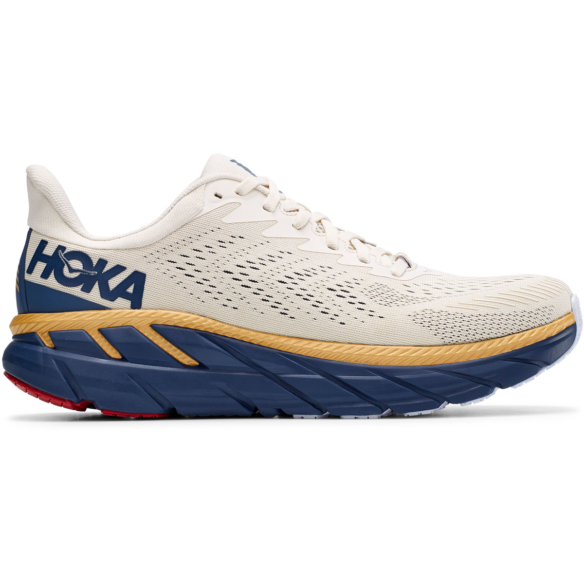 Men's Hoka One One Clifton 7 Running Shoe - Color: Tofu/Vintage - Size: 7 - Width: Regular, Tofu/Vintage, large, image 1