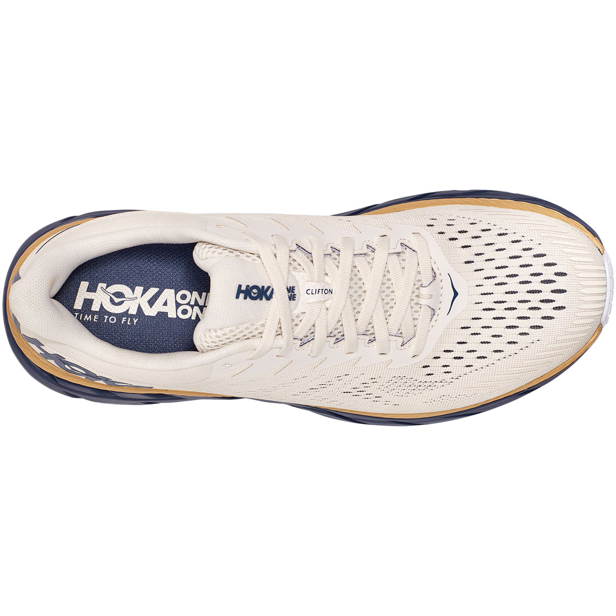Men's Hoka One One Clifton 7 Running Shoe - Color: Tofu/Vintage - Size: 7 - Width: Regular, Tofu/Vintage, large, image 2