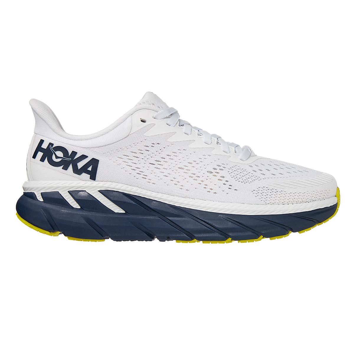 Women's Hoka One One Clifton 7 Running Shoe - Color: Blanc De Blanc - Size: 5 - Width: Regular, Blanc De Blanc, large, image 1
