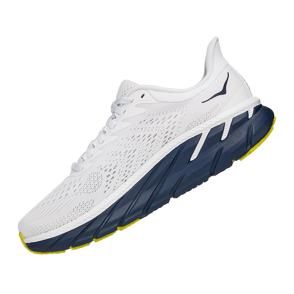 Women's Hoka One One Clifton 7 Running Shoe - Color: Blanc De Blanc - Size: 5 - Width: Regular, Blanc De Blanc, large, image 2