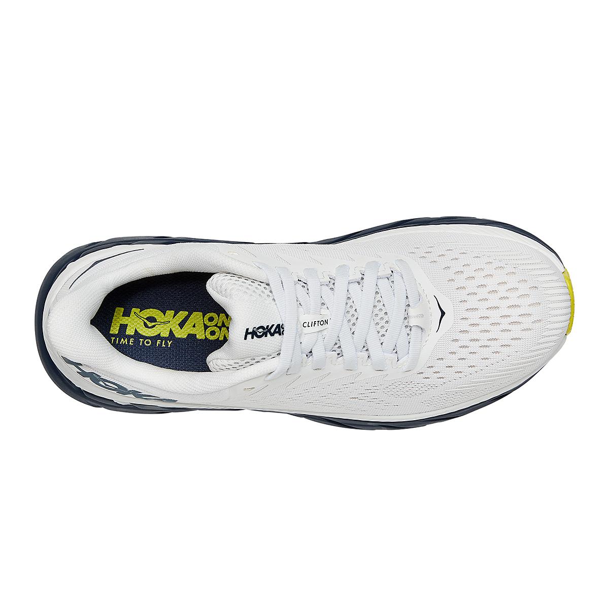 Women's Hoka One One Clifton 7 Running Shoe - Color: Blanc De Blanc - Size: 5 - Width: Regular, Blanc De Blanc, large, image 3