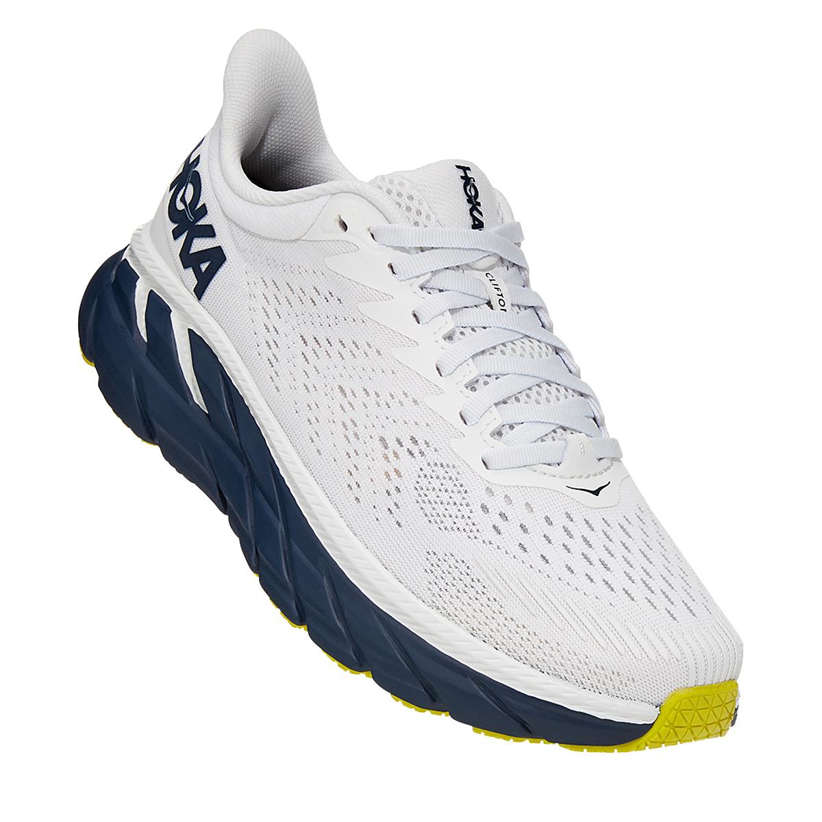 Women's Hoka One One Clifton 7 Running Shoe - Color: Blanc De Blanc - Size: 5 - Width: Regular, Blanc De Blanc, large, image 5