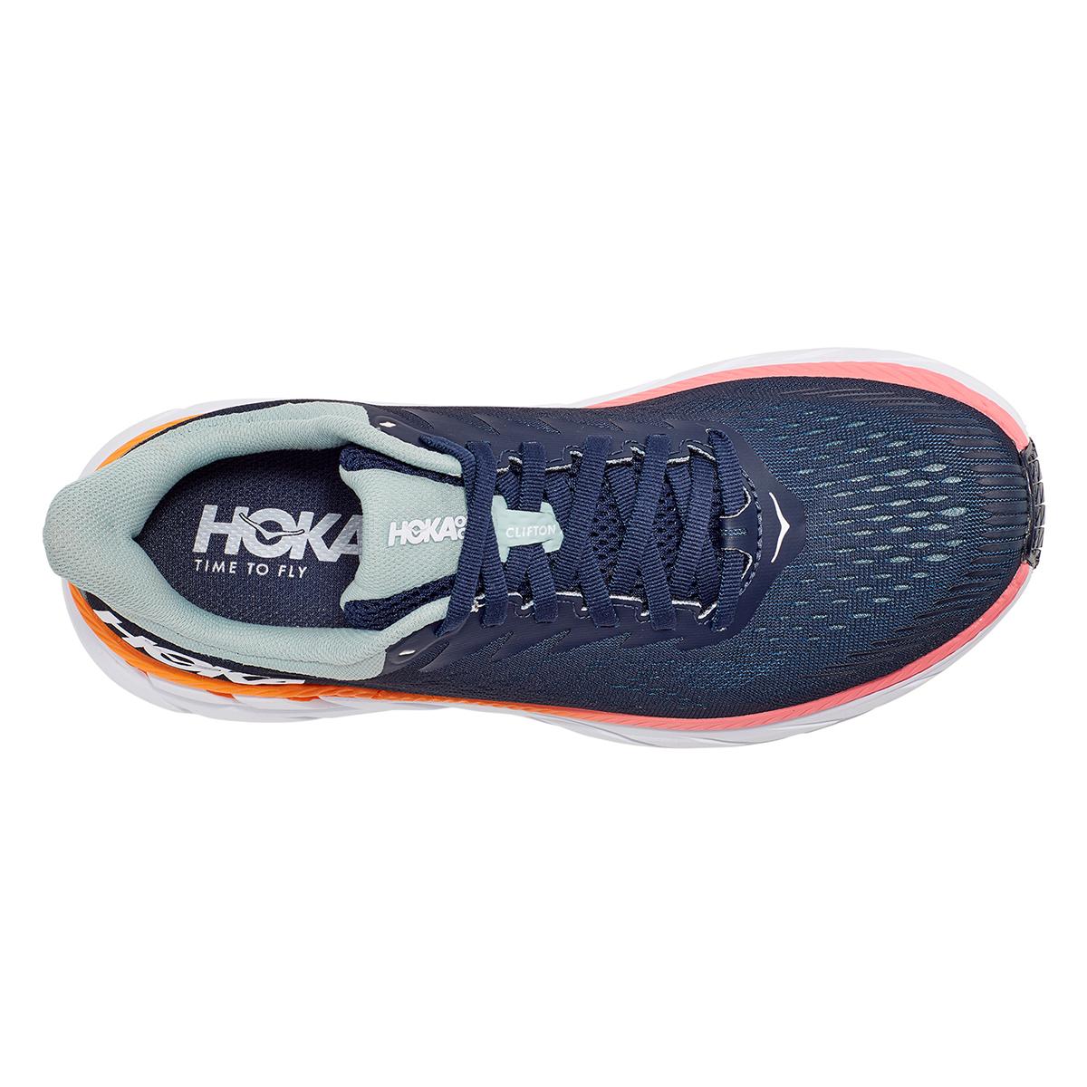 Women's Hoka One One Clifton 7 Running Shoe - Color: Black Iris/Blue Haze - Size: 6 - Width: Regular, Black Iris/Blue Haze, large, image 2