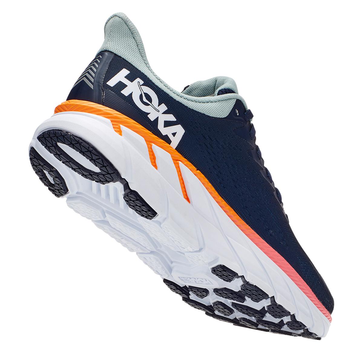 Women's Hoka One One Clifton 7 Running Shoe - Color: Black Iris/Blue Haze - Size: 6 - Width: Regular, Black Iris/Blue Haze, large, image 5
