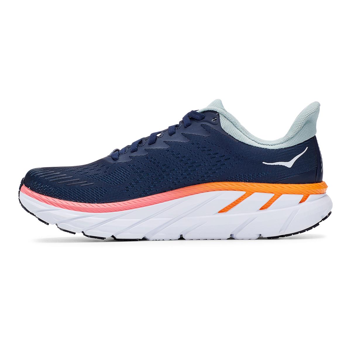 Women's Hoka One One Clifton 7 Running Shoe - Color: Black Iris/Blue Haze - Size: 6 - Width: Regular, Black Iris/Blue Haze, large, image 6