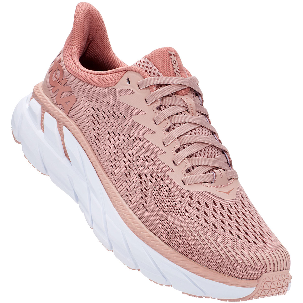 Women's Hoka One One Clifton 7 Running Shoe - Color: Misty Rose - Size: 10 - Width: Regular, Misty Rose, large, image 4