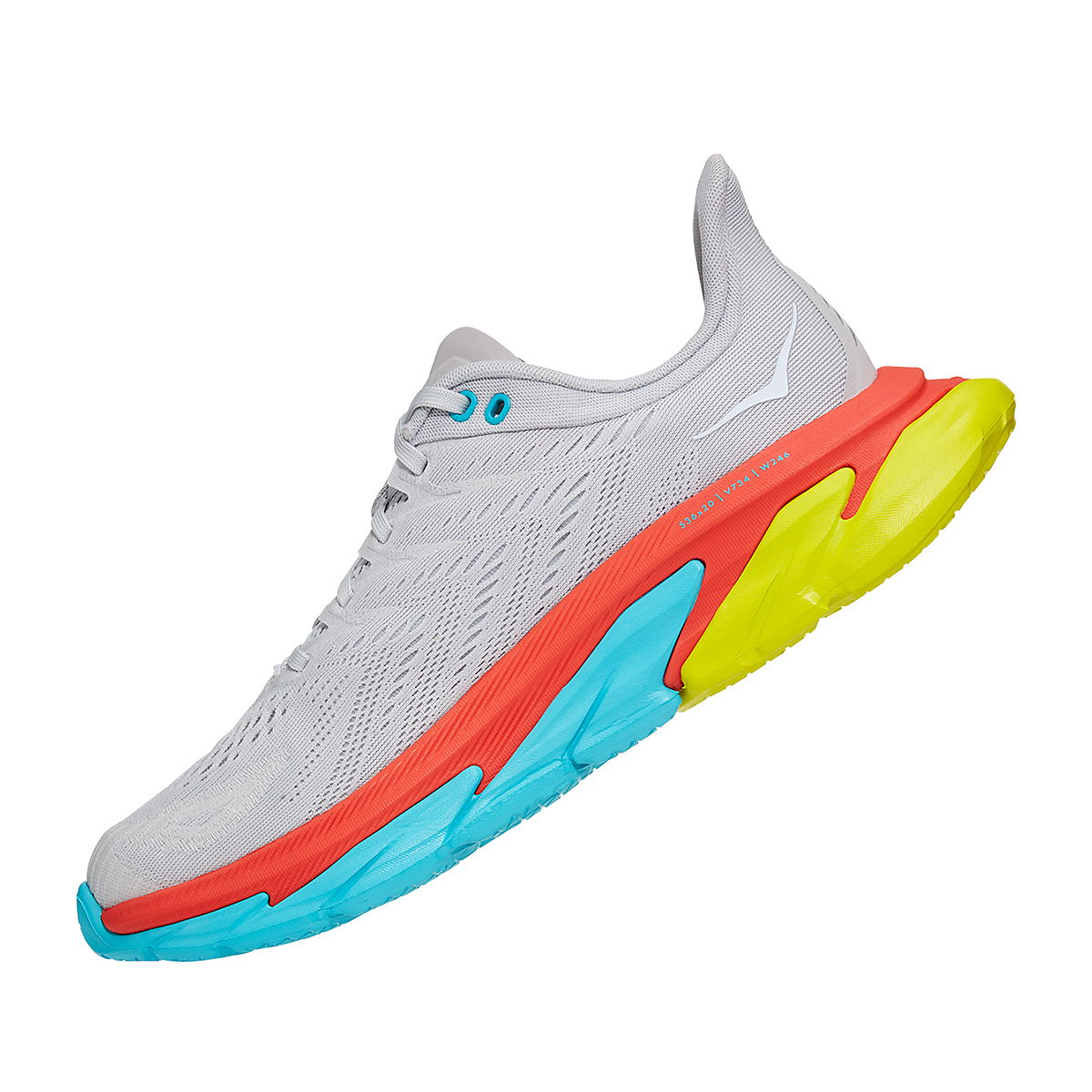 Men's Hoka One One Clifton Edge Running Shoe - Color: Lunar Rock/White - Size: 8.5 - Width: Regular, Lunar Rock/White, large, image 2